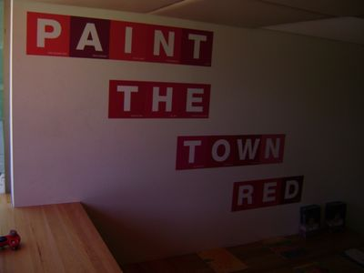Paint red